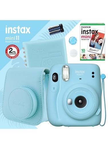 Fujifilm Instax mini 11 Mavi Fotoğraf Makinesi ve Kare Albümlü Hediye Seti 22 Mavi